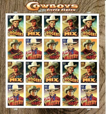 US Scott #4446-4449 Cowboys of the Silver Screen Sheet MNH. Free Shipping