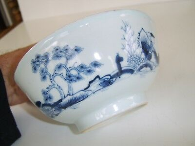 Good Size Antique Chinese Blue White Bowl  - Part Nanking Cargo Christies Label