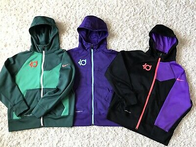 abbcb362ef7 Lot of 3 Nike KD Therma Fit Hoodie Sweatshirts Youth Girls M Zip Kevin  Durant