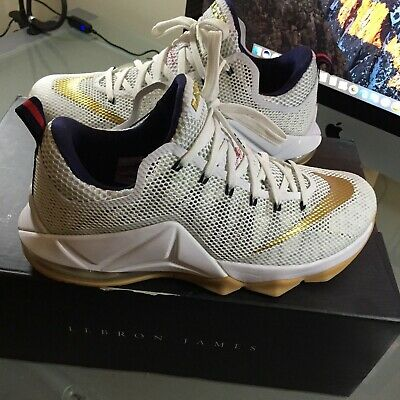 Nike LeBron James 12 XII Low USA Gold Medal MENS SIZE 10 724557-174 Olympic f228c7bb2aea