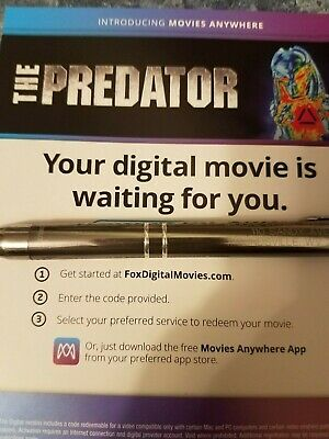 THE PREDTOR (2018)  (HD DIGITAL CODE ONLY)  (NO DVD or BLU-RAY)