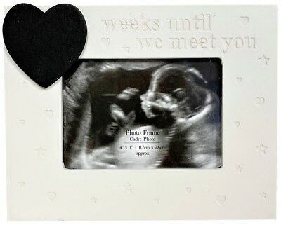Bambino Cream Baby Scan Photo Picture Frame with//without chalkboard heart