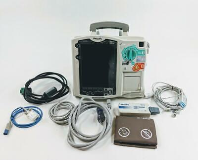 Philips M3535A HeartStart MRX AED, NiBP, ECG, temp, SPO2, CO2, Recorder