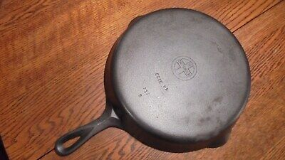 Vintage Griswold No. 10 Small Logo Smooth Bottom Cast Iron Skillet 716 B