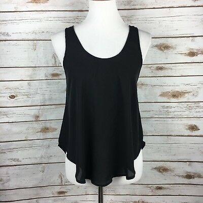 947dab3a082 Nordstrom Lush Semi Sheer Black Top size Small Boho Loose Fit Low Back