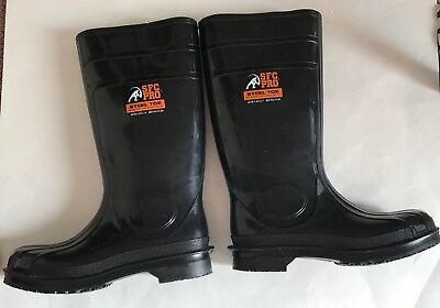 d983ff723d9 SHOES FOR CREWS SFC PRO Steel Toe Rubber Boots USA M10 W12 Slip Oil  Resistant