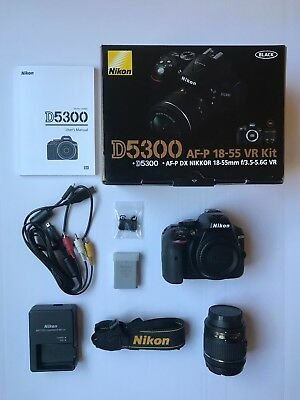 Nikon D5300 Digital SLR Camera with AF-P DX Nikkor 18-55mm f/3.5-5.6G VR (Black)