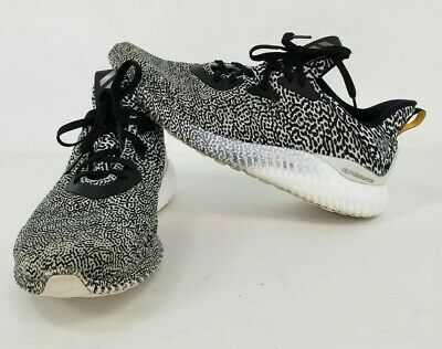 ca4ac3df396bf ADIDAS ALPHABOUNCE ARAMIS Black White Turtle Dove Men s Size 10.5 ...