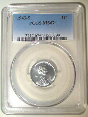1943-S * STEEL * PCGS MS67+ PLUS * LINCOLN Wheat Cent 1c * $675++++ TOP POP !!!!