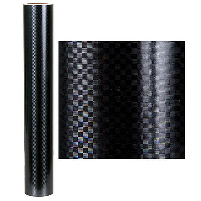 24'' x 10' CARBON FIBER SELF ADHESIVE VINYL- INDOOR / OUTDOOR DURABILITY