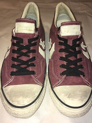 b9f300da994f Converse All Star John Varvatos Collection Mens 13 Red Canvas White Leather