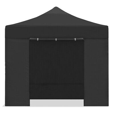 Carpa plegable 3x3m impermeable eventos plegado facil color Negro Gazebo -McHaus