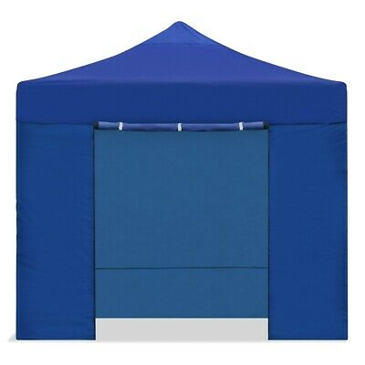Carpa plegable 3x3m impermeable eventos plegado facil color Azul Gazebo -McHaus