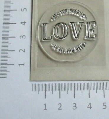 25 - Clearstamp - Motivstempel - Runder Stempel - All  you need is love