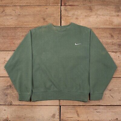 "Mens Vintage Nike Green Crew Neck Sportswear Jumper Sweatshirt Large 42"" R11488"