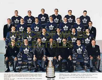 1963 Toronto Maple Leafs Team Photo 8X10