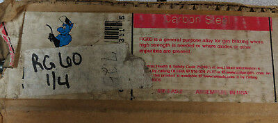 3 pounds of RG60 1/4x36 blue demon welding rod