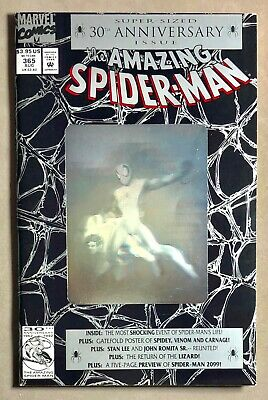 VG Vintage MARVEL COMICS 1992 30th anniversary the AMAZING SPIDER-MAN Issue 365