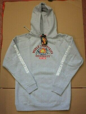 World Industries - Flameboy University Hoody - Grey - S M L Xl - Nos Skateboard
