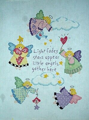 Complete Counted Cross Stitch Unframed Tapestry Picture Angels Gathering Sampler