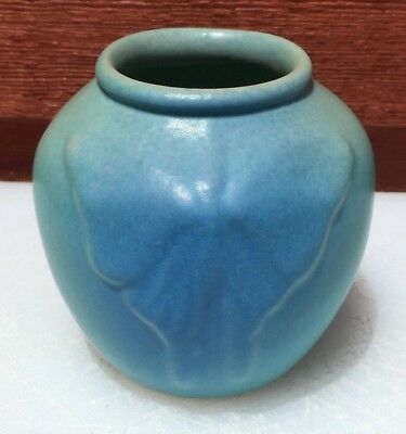 Van Briggle Butterfly Blue/green Vase #4 Colorado Springs