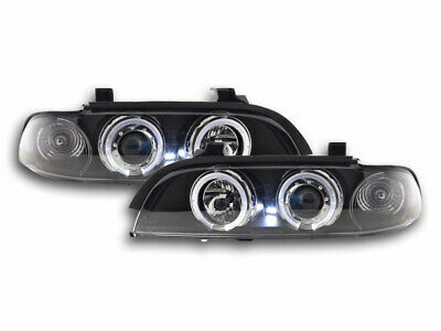 FK-Automotive Scheinwerfer Set Angel Eyes BMW 5er E39 Bj. 95-00 schwarz