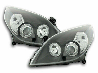 FK-Automotive Scheinwerfer Set Angel Eyes Opel Vectra C Bj. 05-08 schwarz