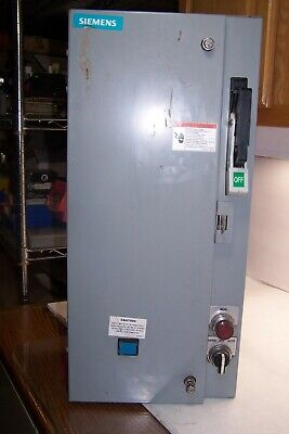 Siemens Size 1 Fusible Combination Motor Starter 14Ds+32A 120 Vac Coil