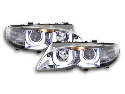 Scheinwerfer Set Angel Eyes BMW 3er E46 Limo/Touring Bj. 02-05 chrom
