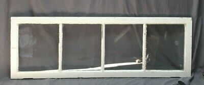 Antique 4 Lite Transom Window Sash Shabby Vintage Old Chic 20X58 188-19C
