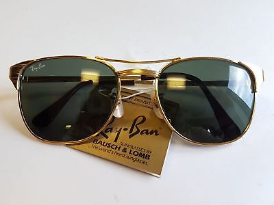 d03bde36a Vintage Ray Ban Bausch & Lomb Gold Signet W1396 USA BL Sunglasses Very Rare  NOS