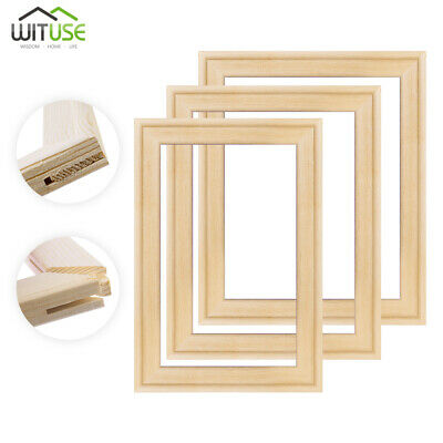 Solid Canvas Stretcher Bars Frames Premium Pine Wood Strips Kit For Oil Painting