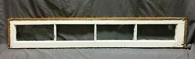 Antique 4 Lite Transom Window Sash Shabby Vintage Old Chic 10X60 189-19C