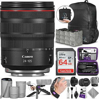 Canon RF 24-105mm f/4L is USM Lens with Altura Photo Advanced Accessory Bundle