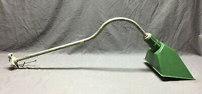 Antique Gooseneck Outdoor Green Porcelain Gas Station Sign Light Fixture 191-19C