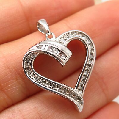 9a1e480d0 925 Sterling Silver Kay Jewelers JWBR Real Diamond Heart Design Pendant
