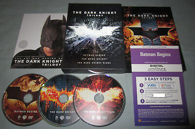 The Dark Knight Trilogy 2012 DVD Movie 3-Disc Box Set w/Lenticular Cover - RARE!