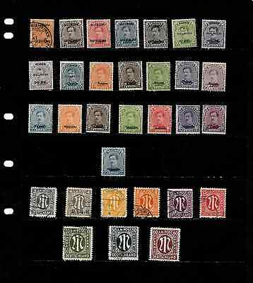 Germany: Nice  Early Occupation Stamp Collection Displayed On 1 Sheet