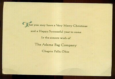 1920's Chagrin Falls,OH - The Adams Bag Company Christmas Card