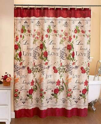 The Lakeside Collection Live Laugh Love Shower Curtain