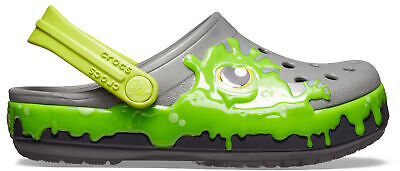 NEW Genuine Crocs  Fun Lab Slime Band Clog Slate Grey