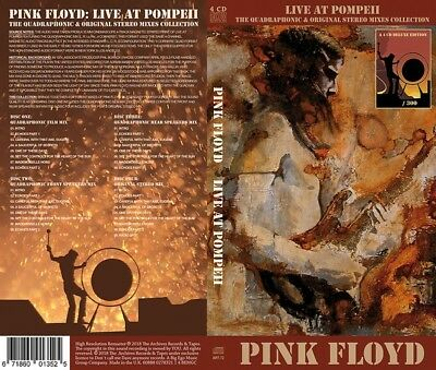 BOX 4CD PINK FLOYD - LIVE AT POMPEII - Limited edition