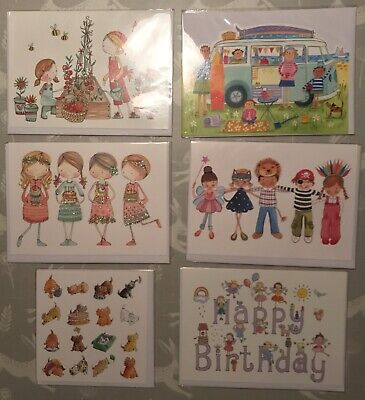 *phoenix Cards* 6 Lovely Girls Greetings Cards• New In Celo'•card Bundle•