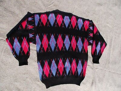 Vintage Sweater Jumper Snow Skiing Diamond Australia Made Acylic Size 20 Clothes