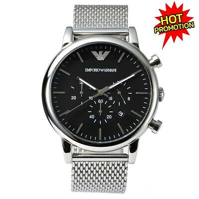 Brand New Genuine Emporio Armani Ar1808 Men's Genuine Luigi Mesh Large Watch