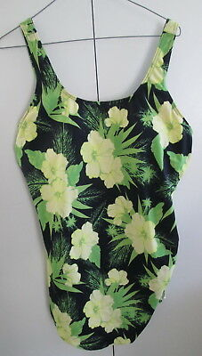 Ladies Now Size 22 One Piece Bust Support Swimwear Bathers Floral