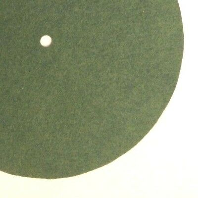 """Replacement Felt & Bumpers for Victor Victrola & Other Brands, 7.25"""", Med. Green"""