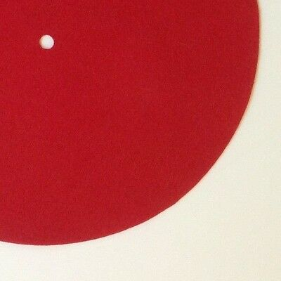 """Replacement Felt & Bumpers for Phonograph Turntables, 10"""", Red"""