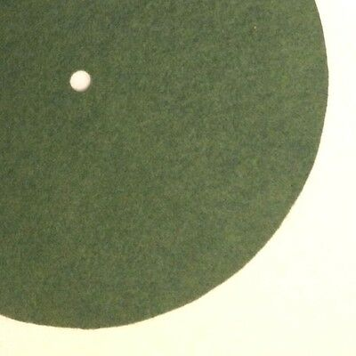 """Replacement Felt & Bumpers for Victor Victrola & Other Brands, 8.25"""", Med. Green"""