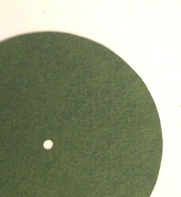 """Replacement Felt & Bumpers for Victor Victrola & Other Brands, 11.5"""", Med. Green"""